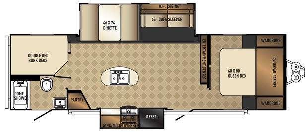 SolAire Ecplise 269BHDSK Floorplan Image
