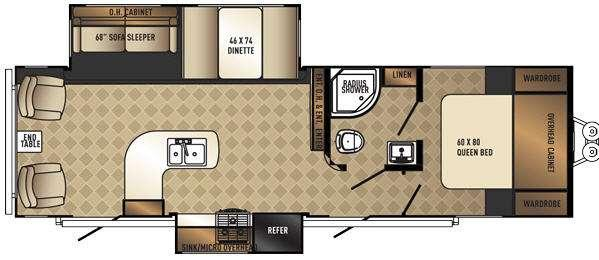 SolAire Ecplise 297RLDS Floorplan Image