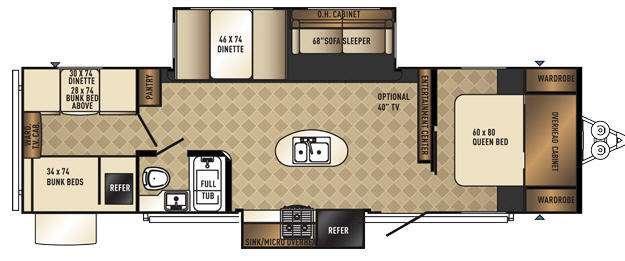 SolAire Ecplise 307QBDSK Floorplan Image