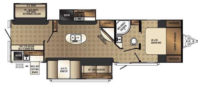 SolAire Ecplise 312TSQBK Floorplan Image
