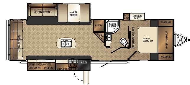 SolAire Ecplise 315RLTSEK Floorplan Image