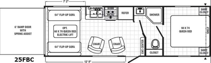 Floorplan - 2016 Palomino Canyon Cat 25FBC