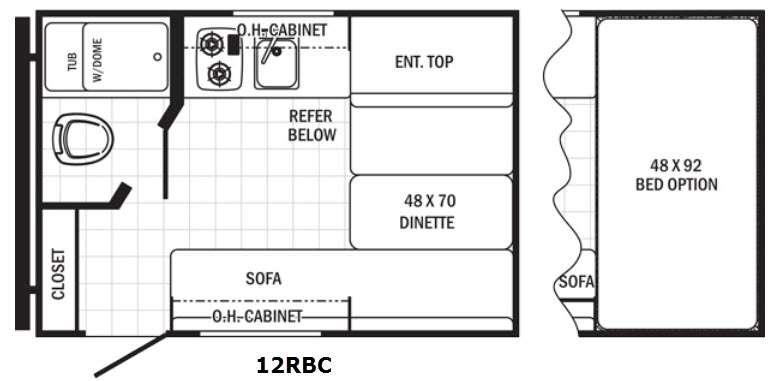 Canyon Cat 12RBC Floorplan Image
