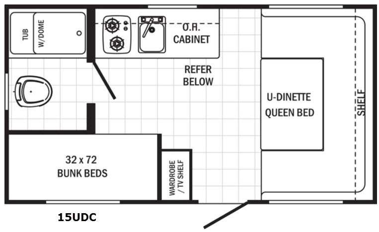 Canyon Cat 15UDC Floorplan Image