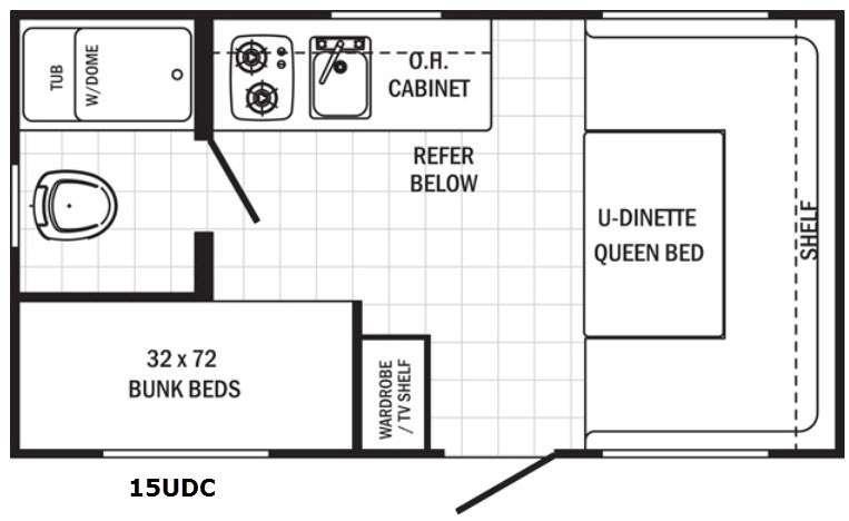 Canyon Cat 15UDC Floorplan Image