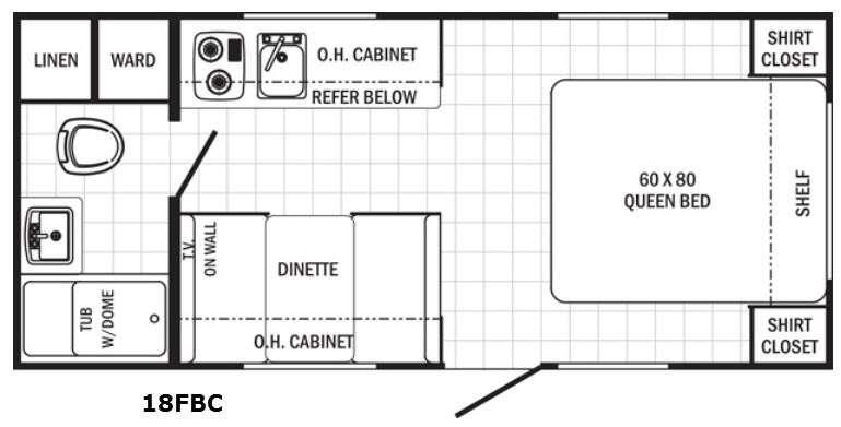 Floorplan - 2016 Palomino Canyon Cat 18FBC