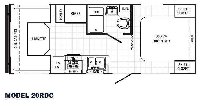 Canyon Cat 20RDC Floorplan Image
