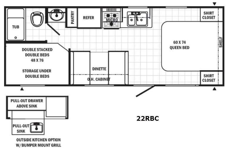 Canyon Cat 22RBC Floorplan Image