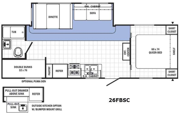 Canyon Cat 26FBSC Floorplan Image