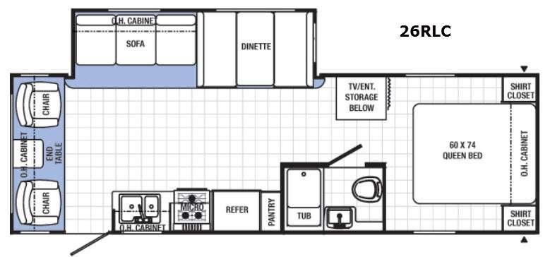 Canyon Cat 26RLC Floorplan Image