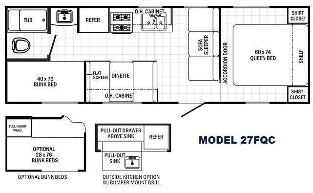 Floorplan - 2016 Palomino Canyon Cat 27FQC