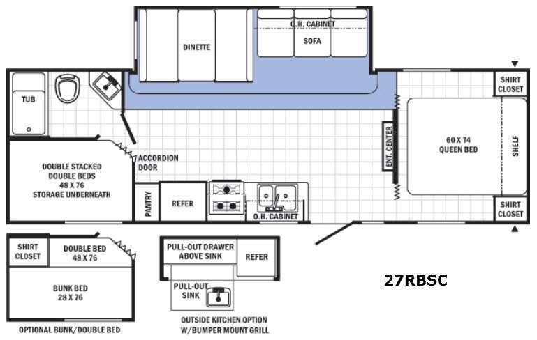 Floorplan - 2016 Palomino Canyon Cat 27RBSC