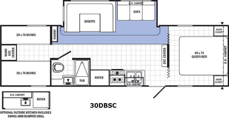 Canyon Cat 30DBSC Floorplan Image
