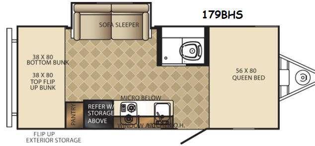 PaloMini 179BHS Floorplan
