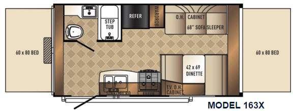 Floorplan - 2016 Palomino SolAire 163 X