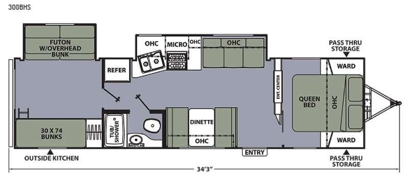 Floorplan - 2015 Coachmen RV Apex Ultra-Lite 300BHS