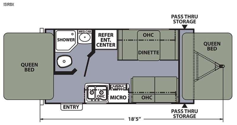Apex Ultra-Lite 151RBX Floorplan Image