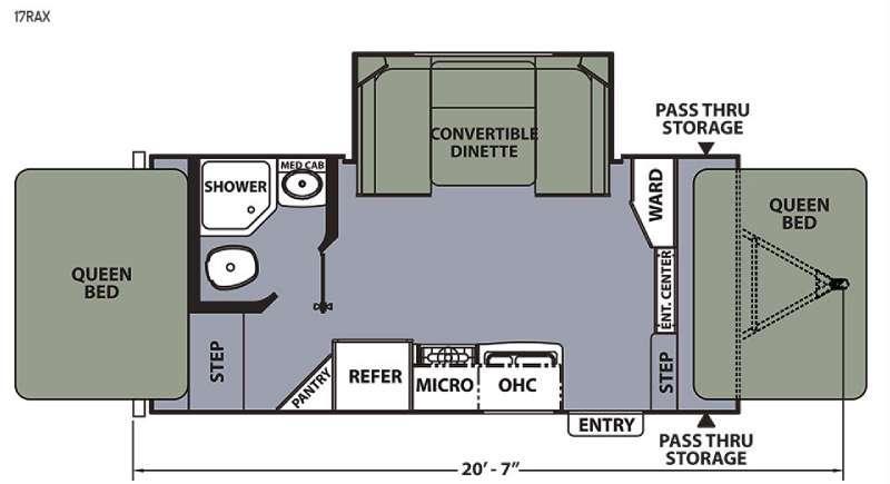Apex Ultra-Lite 17RAX Floorplan Image