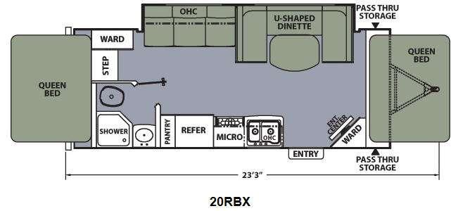 Apex Ultra-Lite 20RBX Floorplan Image