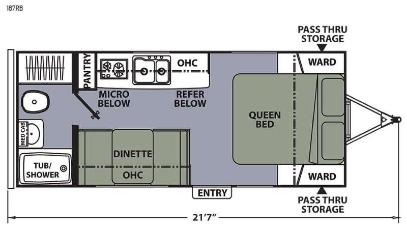 Apex Ultra-Lite 187RB Floorplan Image
