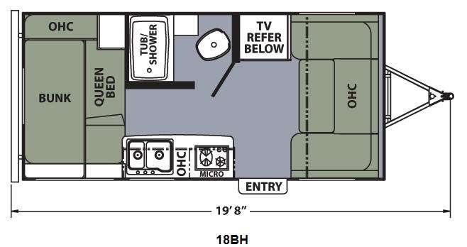 Apex Ultra-Lite 18BH Floorplan Image
