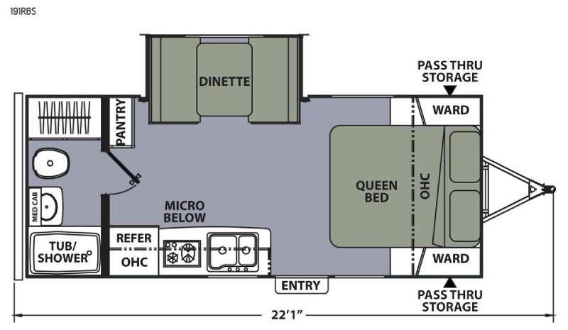 Apex Ultra-Lite 191RBS Floorplan Image