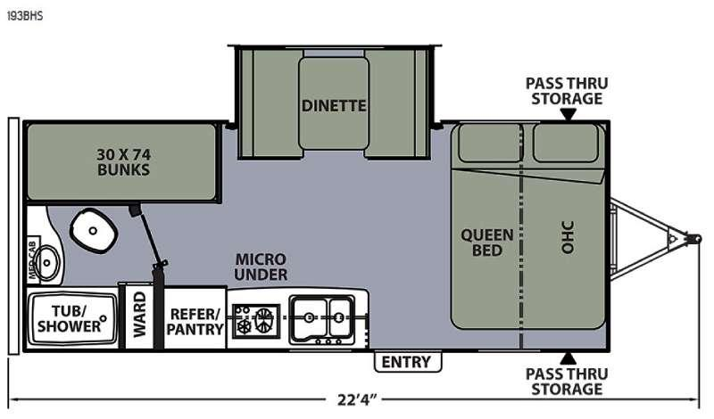 Apex Ultra-Lite 193BHS Floorplan Image