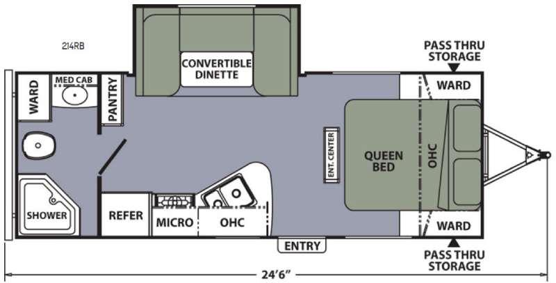 Apex Ultra-Lite 214RB Floorplan Image