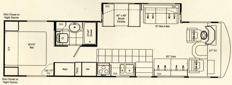 Floorplan - 2007 Damon Daybreak 3270