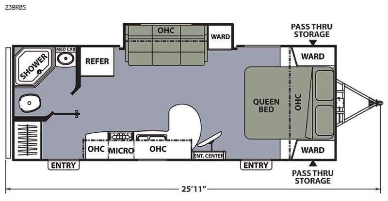 Apex Ultra-Lite 239RBS Floorplan Image