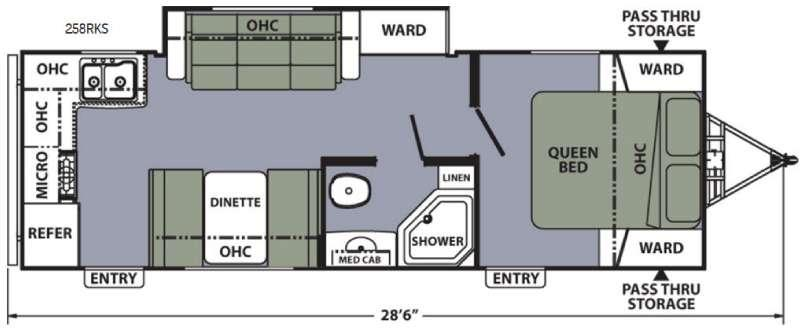 Floorplan - 2016 Coachmen RV Apex Ultra-Lite 258RKS