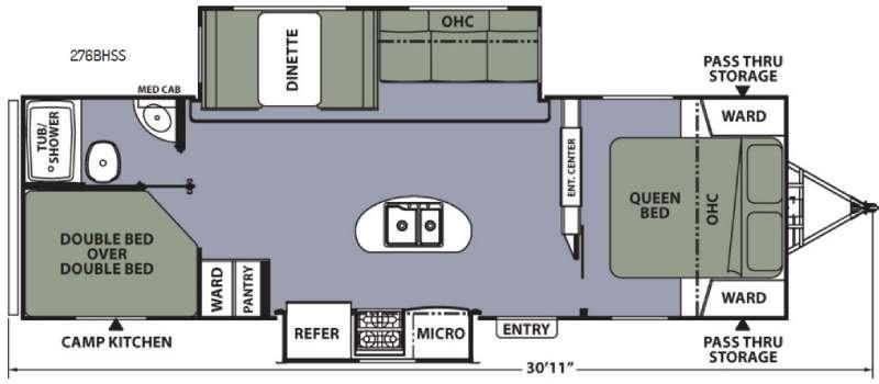 Apex Ultra-Lite 276BHSS Floorplan Image