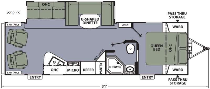 Apex Ultra-Lite 279RLSS Floorplan Image