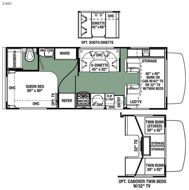 Floorplan - 2016 Forest River RV Forester 2301 Chevy