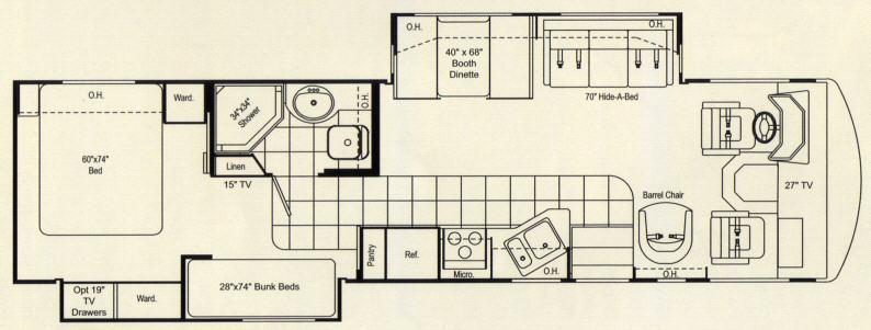 Floorplan - 2007 Damon Daybreak 3276