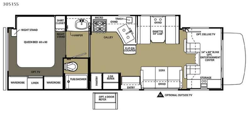 Floorplan - 2016 Forest River RV Forester 3051SS Ford