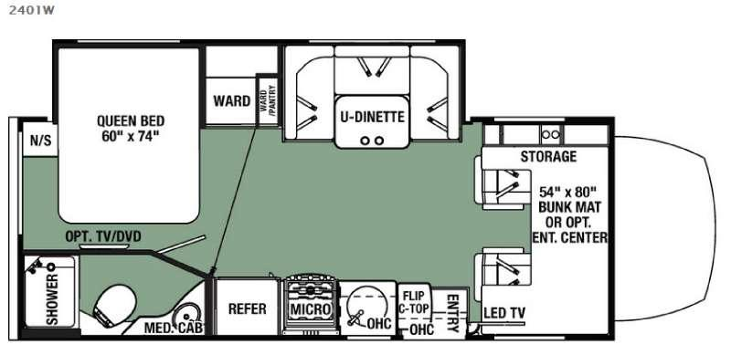 Floorplan - 2016 Forest River RV Forester MBS 2401W