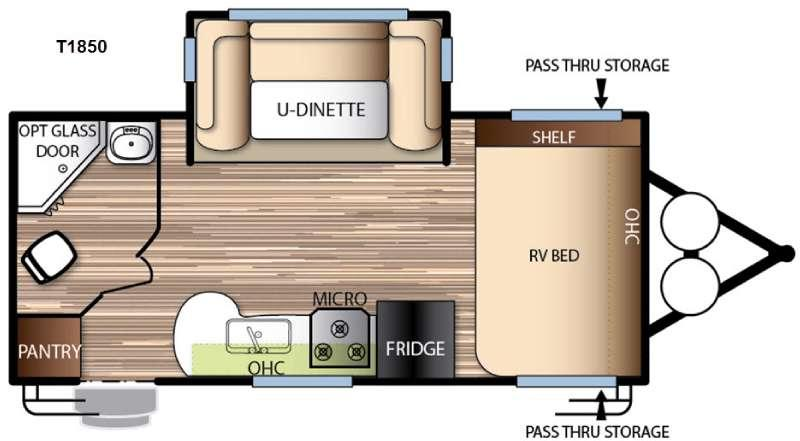 Floorplan - 2016 Forest River RV EVO T1850