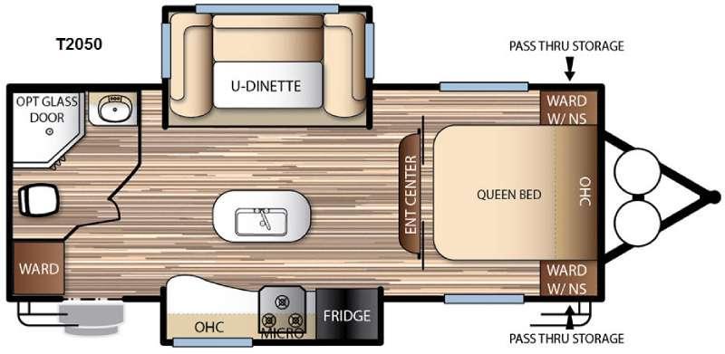 Floorplan - 2016 Forest River RV EVO T2050