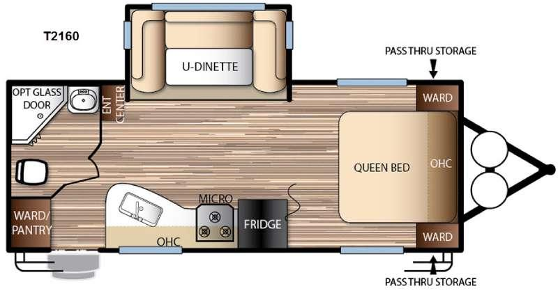 Floorplan - 2016 Forest River RV EVO T2160