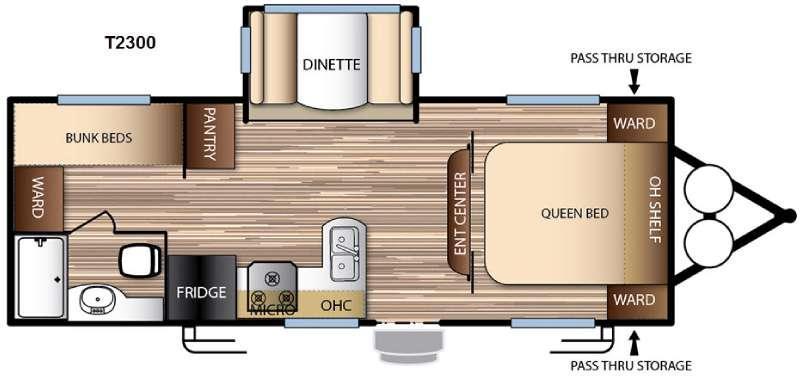 Floorplan - 2016 Forest River RV EVO T2300