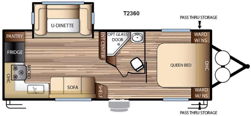 Floorplan - 2016 Forest River RV EVO T2360