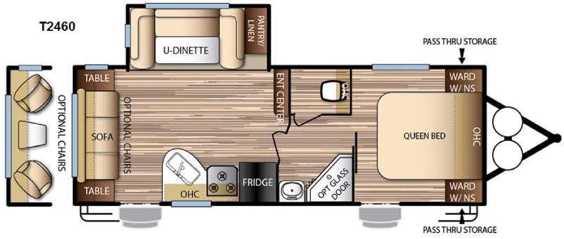 Floorplan - 2016 Forest River RV EVO T2460