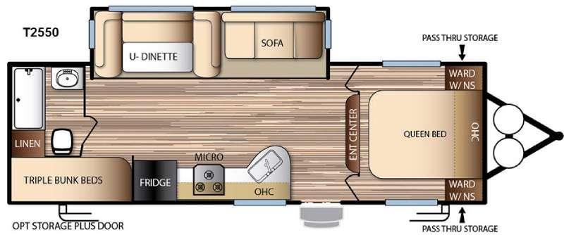 Floorplan - 2016 Forest River RV EVO T2550