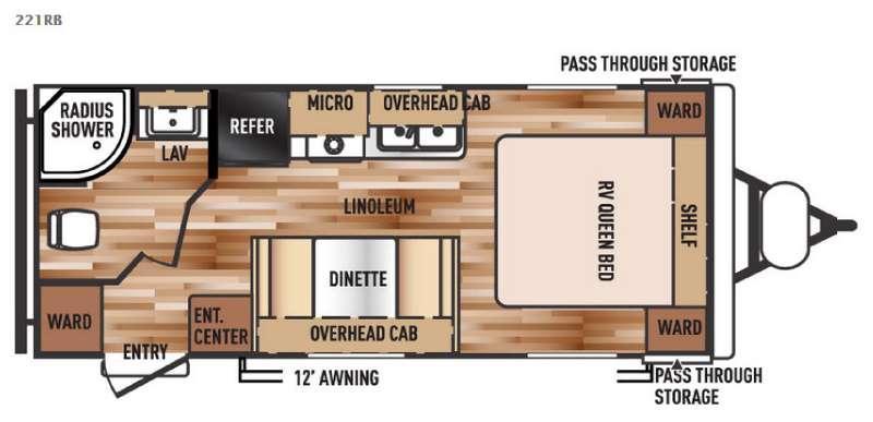 Floorplan - 2016 Forest River RV Salem Cruise Lite 221RB