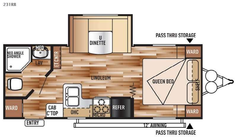 Floorplan - 2016 Forest River RV Salem Cruise Lite 231RB