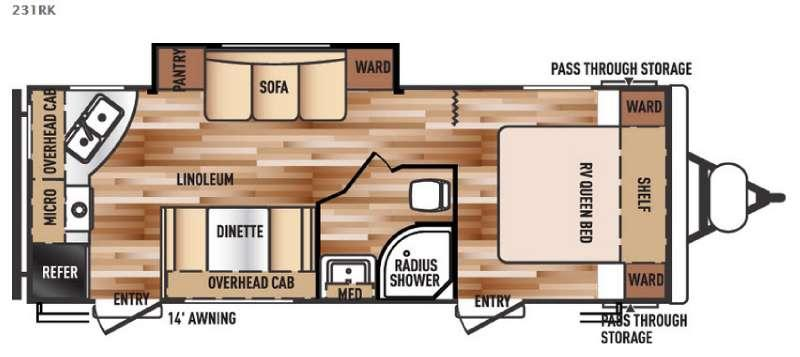 Floorplan - 2016 Forest River RV Salem Cruise Lite 231RK