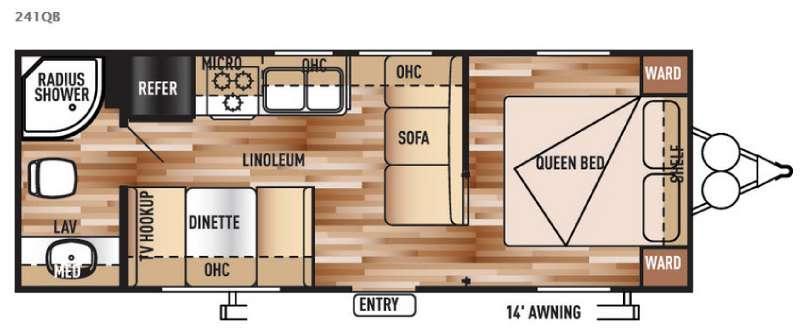 Floorplan - 2016 Forest River RV Salem Cruise Lite 241QB
