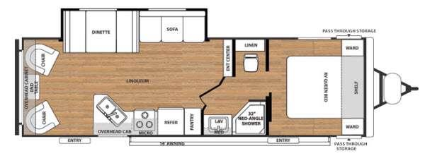 Floorplan - 2016 Forest River RV Salem Cruise Lite 252RL