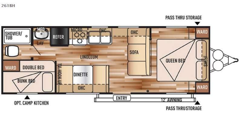 Floorplan - 2016 Forest River RV Salem Cruise Lite 261BH